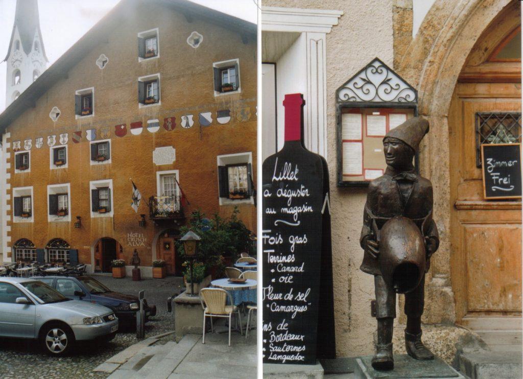 Hotel in Zuoz, rumantsche Architektur