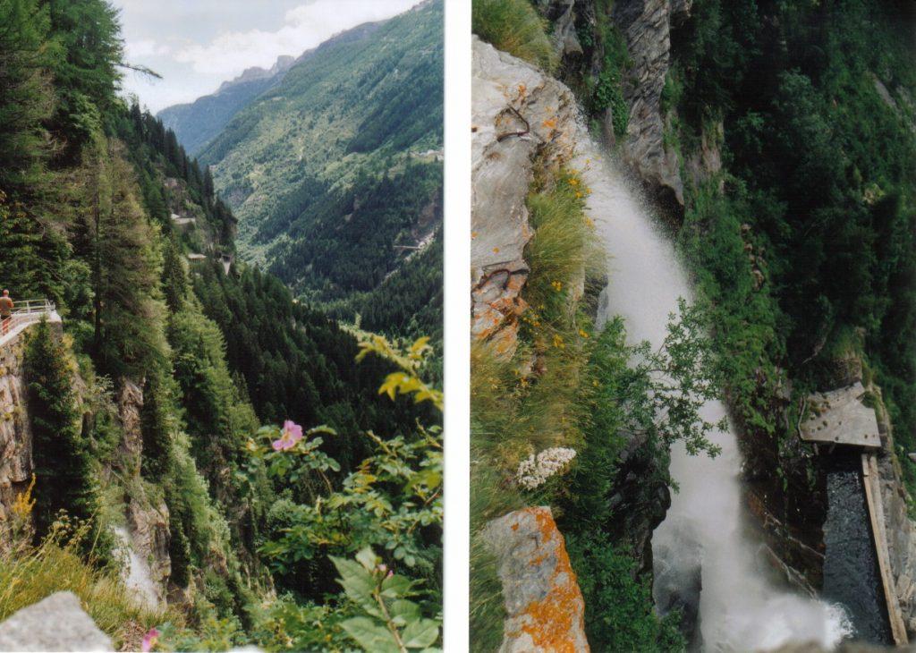 Splügenpass-Süd mit Wasserfall