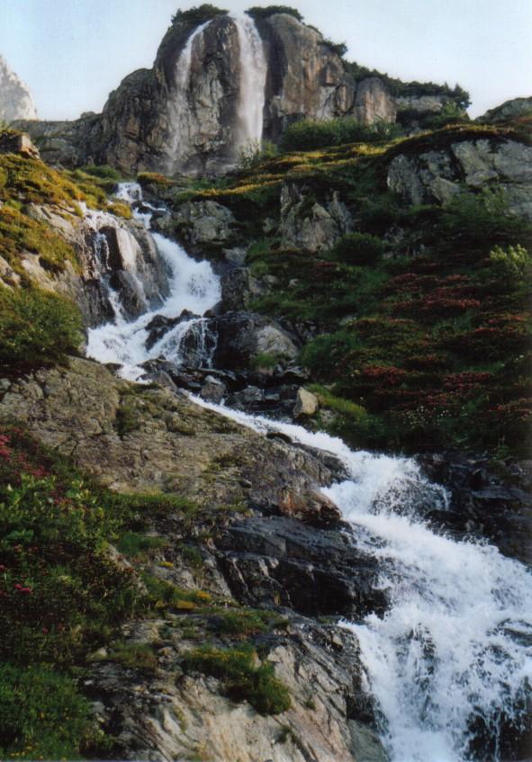 Wasserfall am Steingletscher, Sustenpass