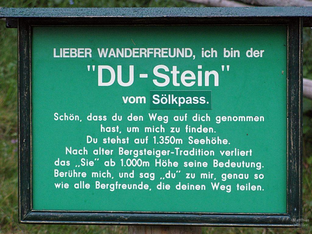 Tafel vom DU-Stein