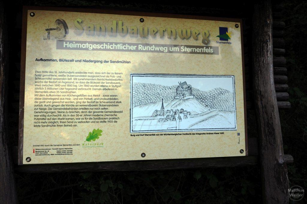Tafel Sandbauernweg Sternenfels