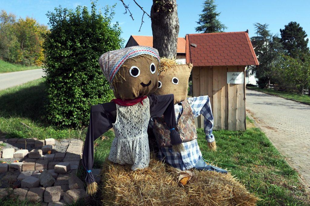 Erntefiguren Mann/Frau in Weissach
