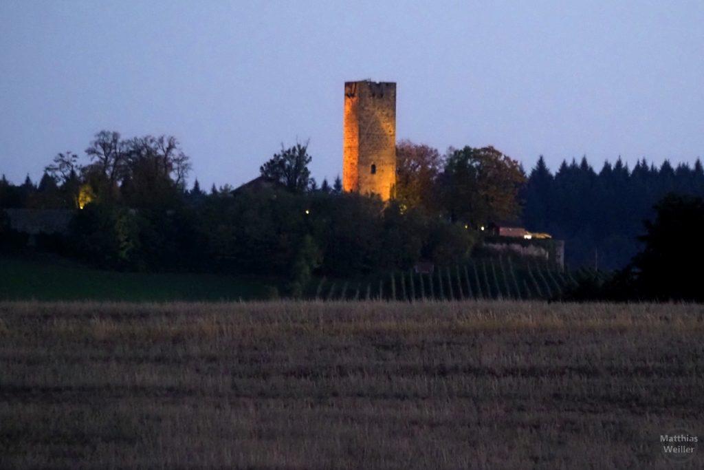 Burg Ravensburg bei Sulzfeld in Abendbeleuchtung