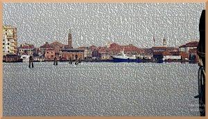 stiliserte Meeransicht von Chióggia