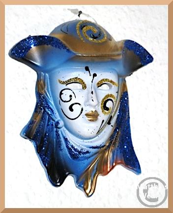 blau-weo-goldenes Souvenier-Modell einer venezianischen Maske