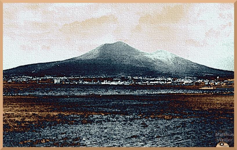 stilisiertes Bild vom Vesuv, Meeransicht