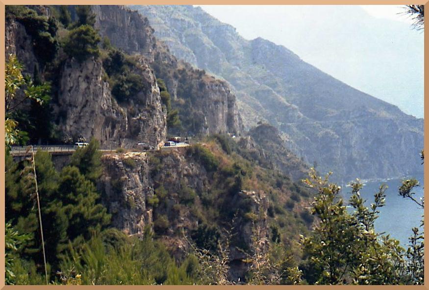 felsige Küstenstraße, Panoramaroute Amalfiksüte