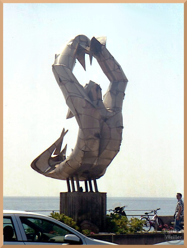 Stählerne Meerjungfrau, überlebensgroß, Santa Teresa