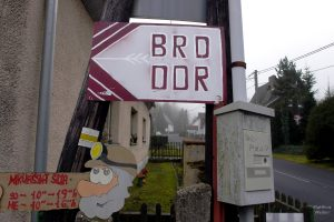 Hinweis auf BRD/DDR-Grenze an der Grenze D/CZ