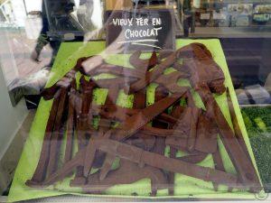 Werkzeuggeräte aus Schokolade