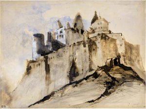 Bild Château de Vianden von Victor Hugo