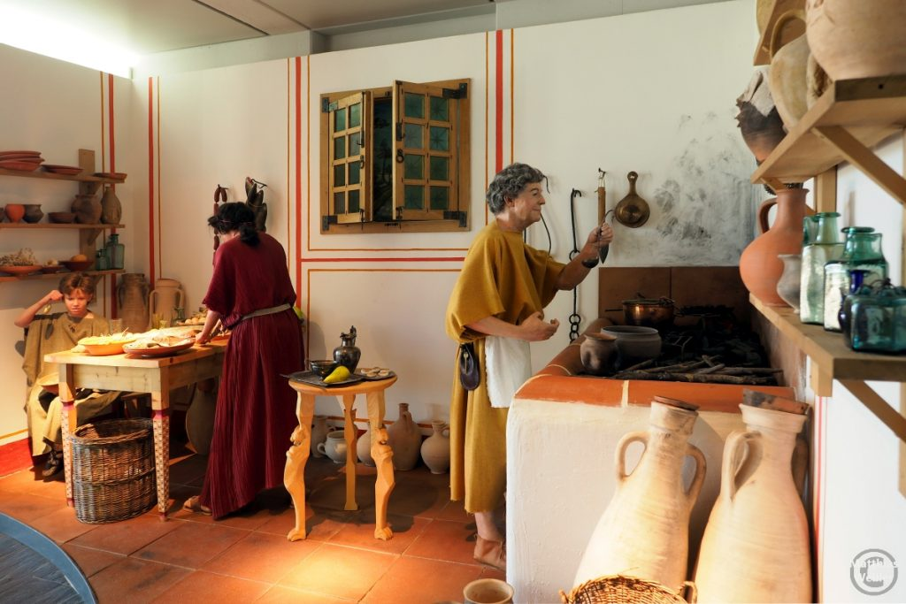 römische Küchenszene mit Ehepaar, Villa Romaine, Echternach