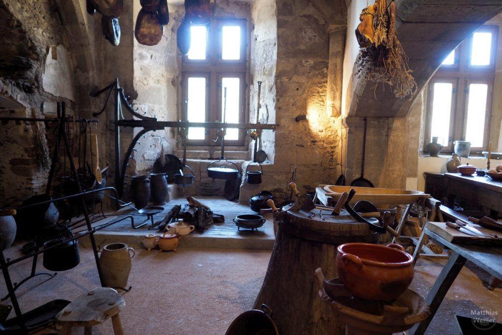 historisches Kücheninterieur, Burg Vianden