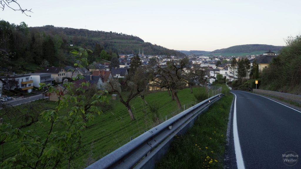 Blick auf Diekirch von Westen
