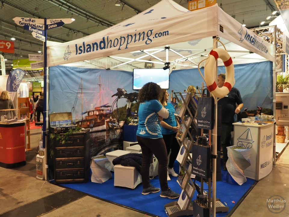 Messestand Island Hopping