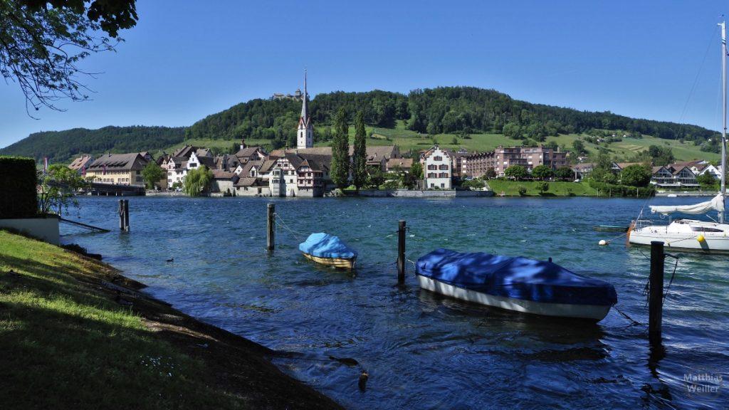 Panorma auf Stein am Rhein mit Seerhein