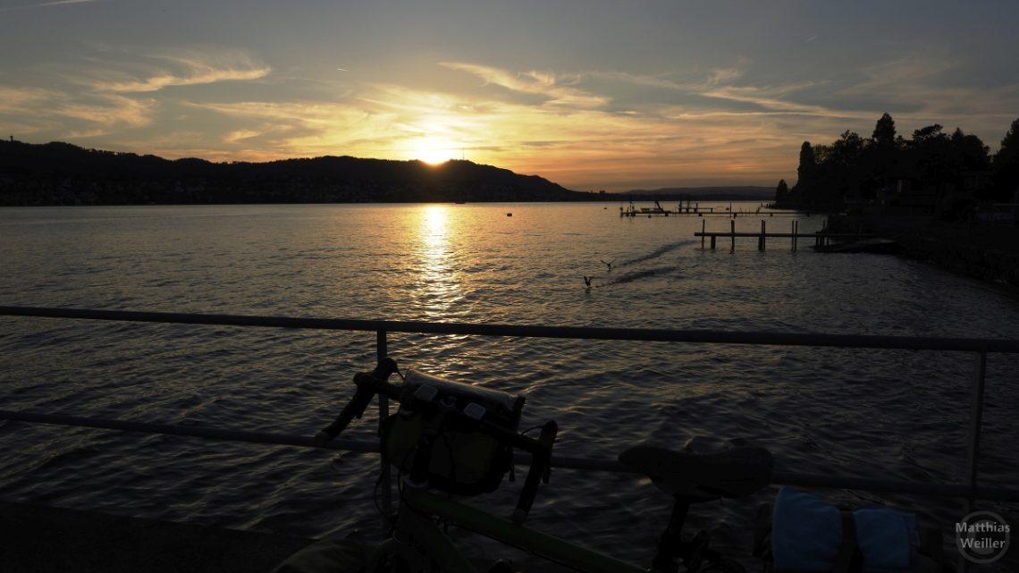 Sonnenuntergang am Züichsee, Herrliberg