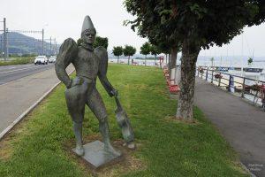 Skulptur Circus Knie am Hafen Rapperswil