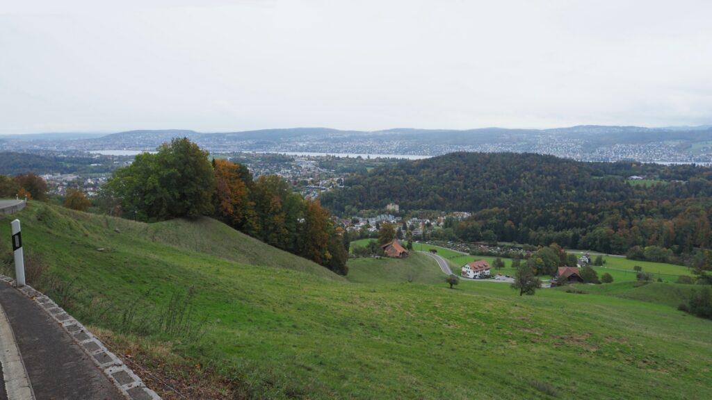 Blick auf Zürichsee von Buchenegg