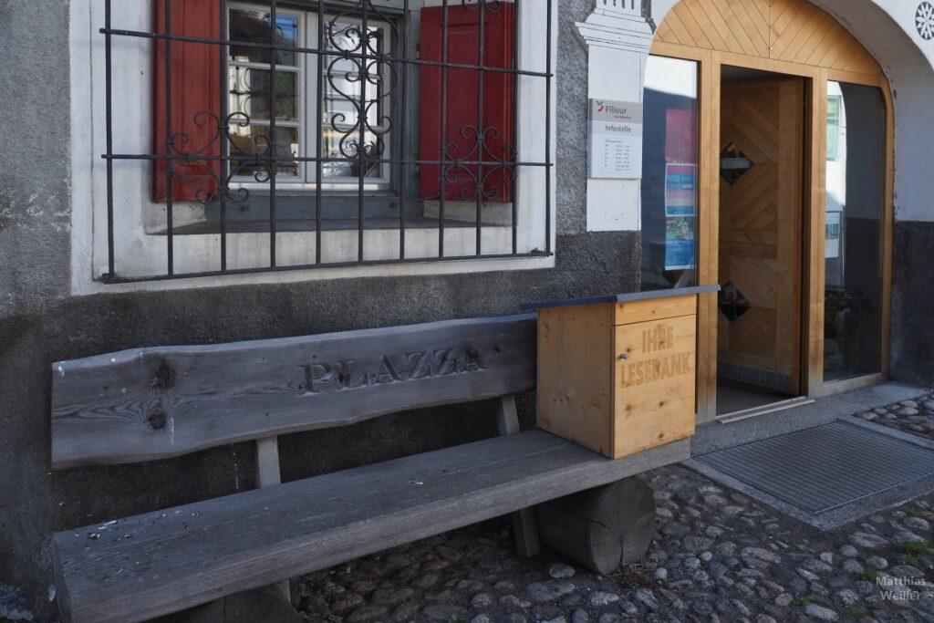 Engadinerhaus, Lesebank, Bibliothek Filisur