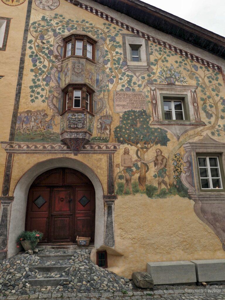 Engadinerhaus, Motiv Südnefall im Paradies, Ardez