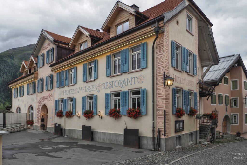 Engadinerhaus, Hotel Meisser, Guarda