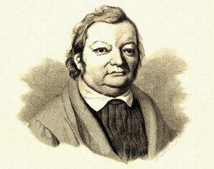 Porträt Justinus Kerner, Stich nach einer Zeichnung von Anton Duttenhofer