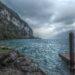 Anlegesteg mit regenrpmatischem Walensee, leicht stilisiert