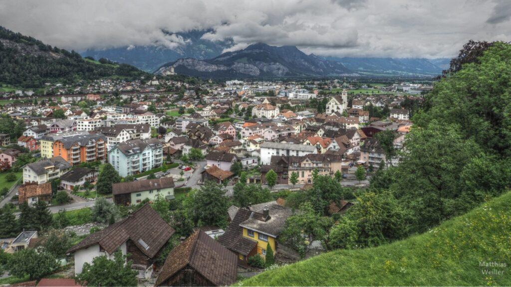 Blick aus Mels, Sargans und Rheintal