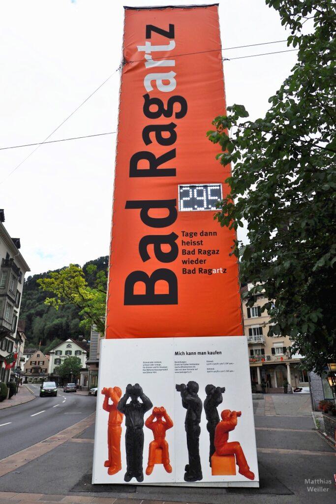 Plakatsäule zu Bad RagARTz, Info zu den Spähern