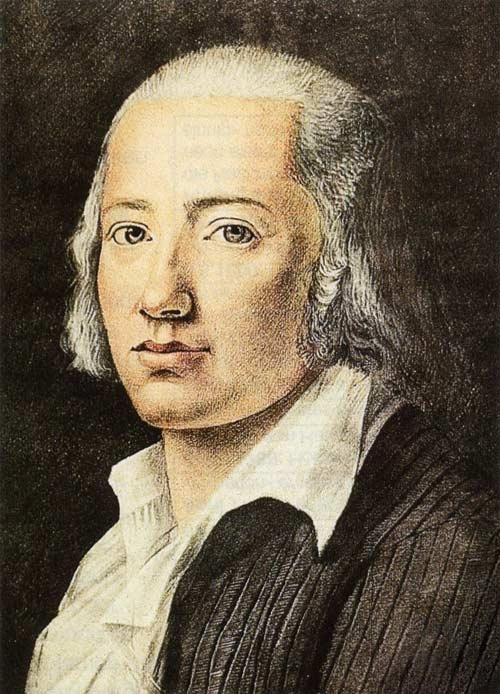 Friedrich Hölderlin, Porträtzeichnung von Franz Karl Hiemer, 1792