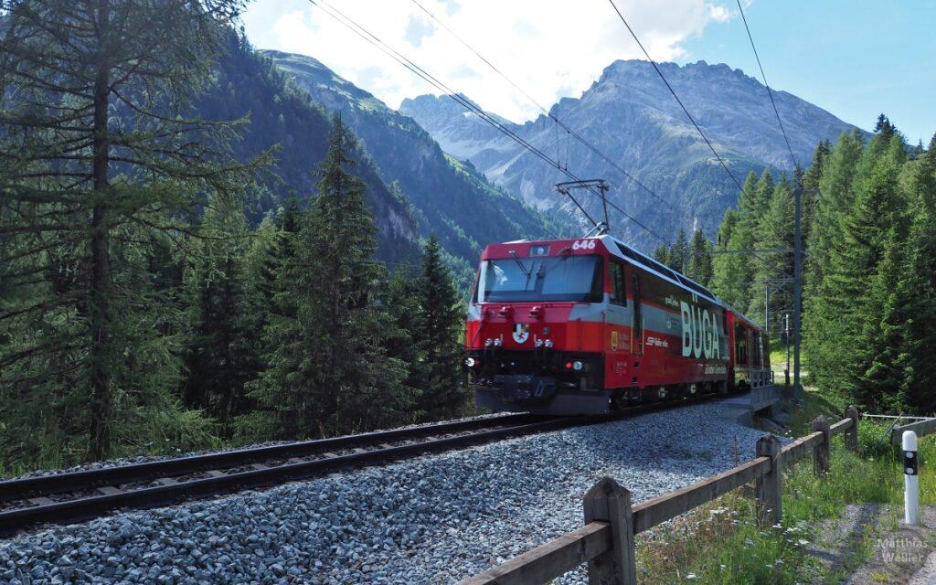 Albulabahn, Lokomotive mit Bergen