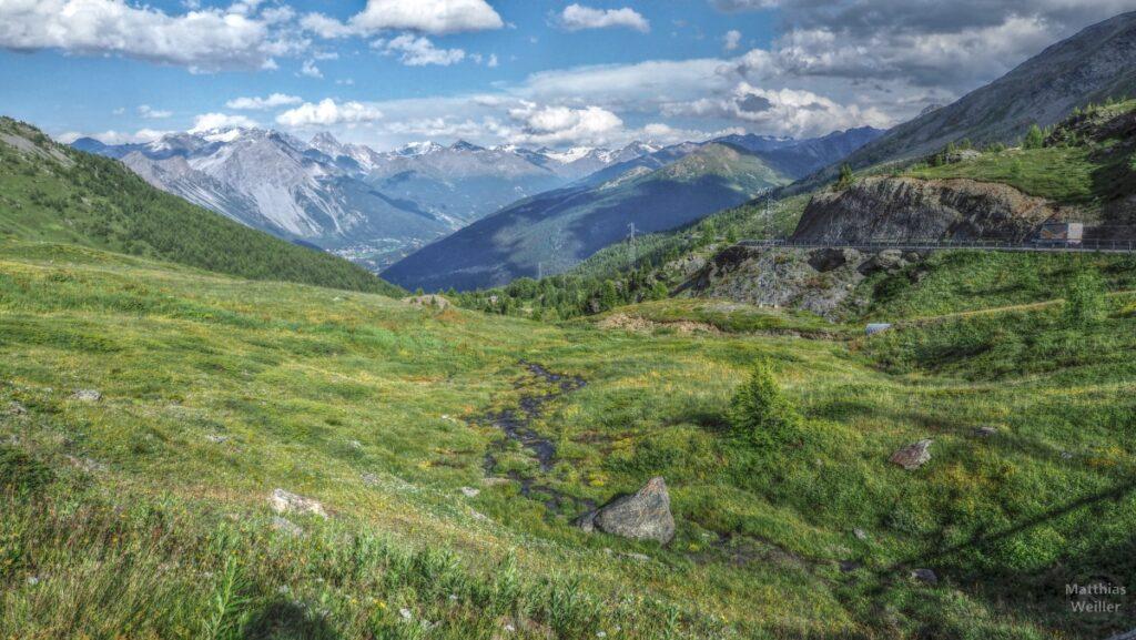 Vergarena am Passo Foscagno nach Süden