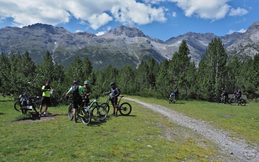MTB-Grupee am Passo Val Mora