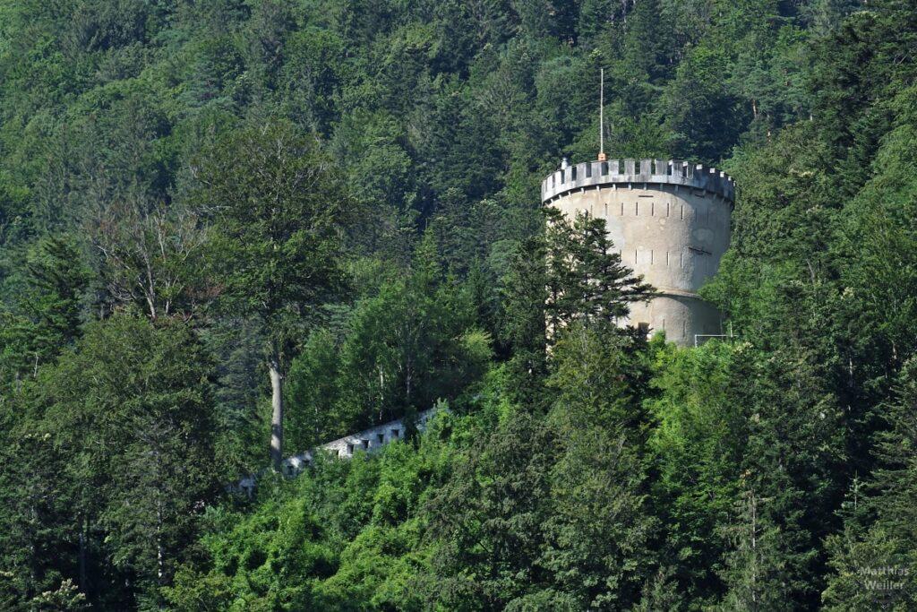 Turm der Militärfestung St. Luzisteig