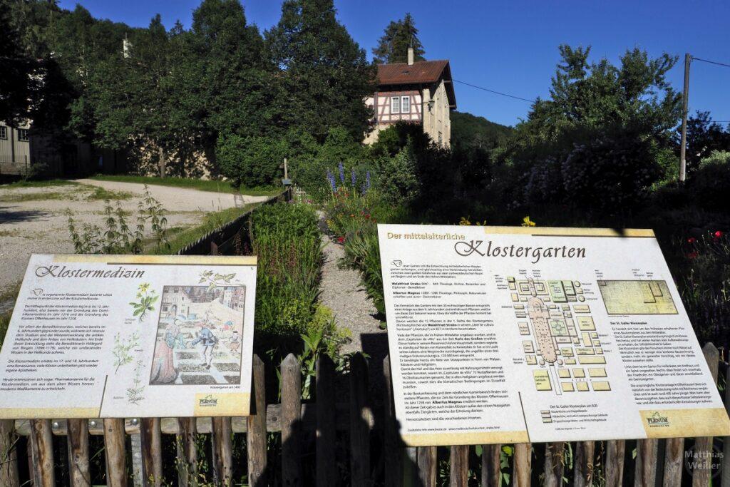 Tafeln zu Klostergarten, Klostermedizin