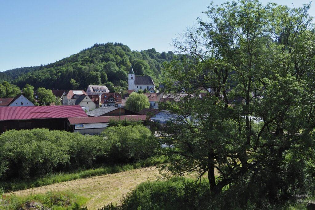 Ansicht Buttenhausen mit Kirche