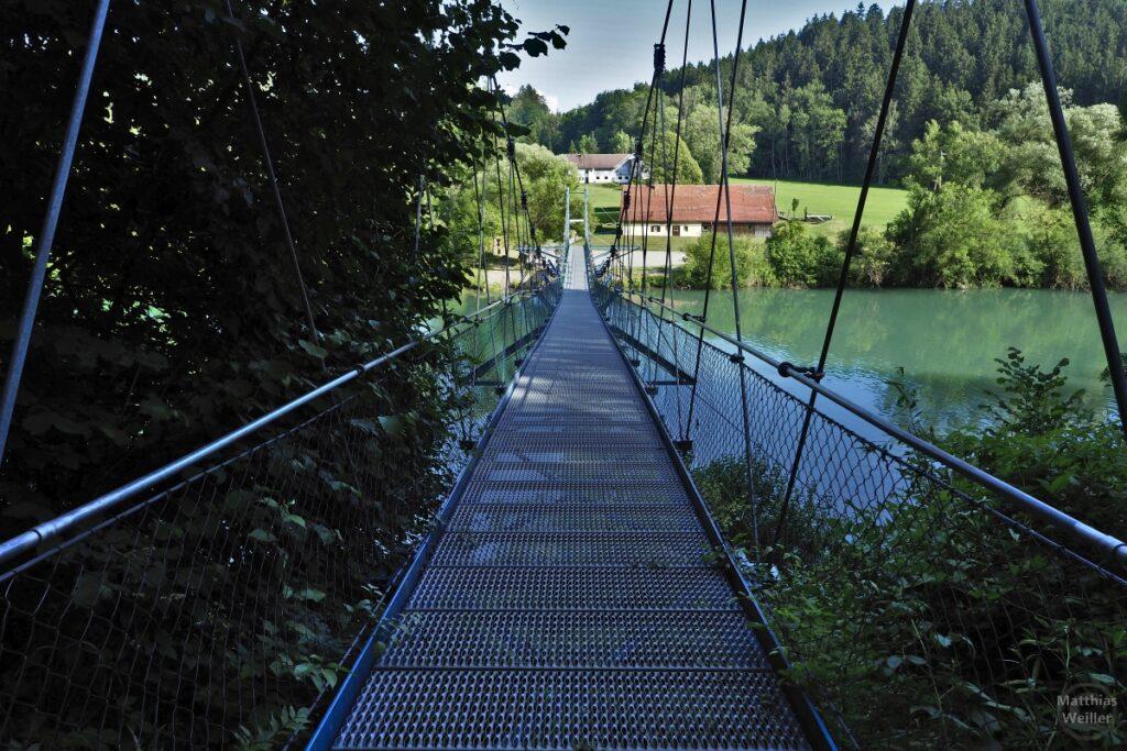 Hängebrücke über Iller, Frontsicht