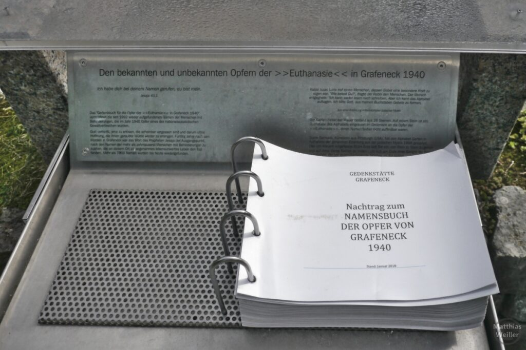 Namensbuch zu Opfern von Grafeneck