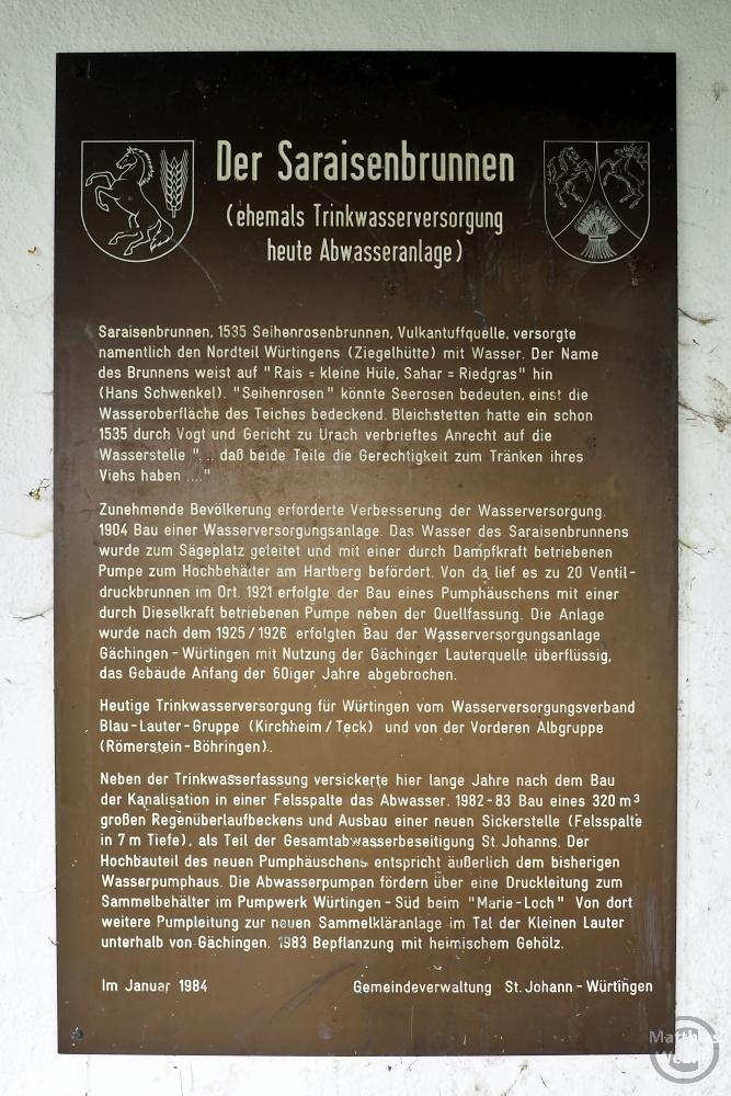 Infotafel Saraisenbrunnen