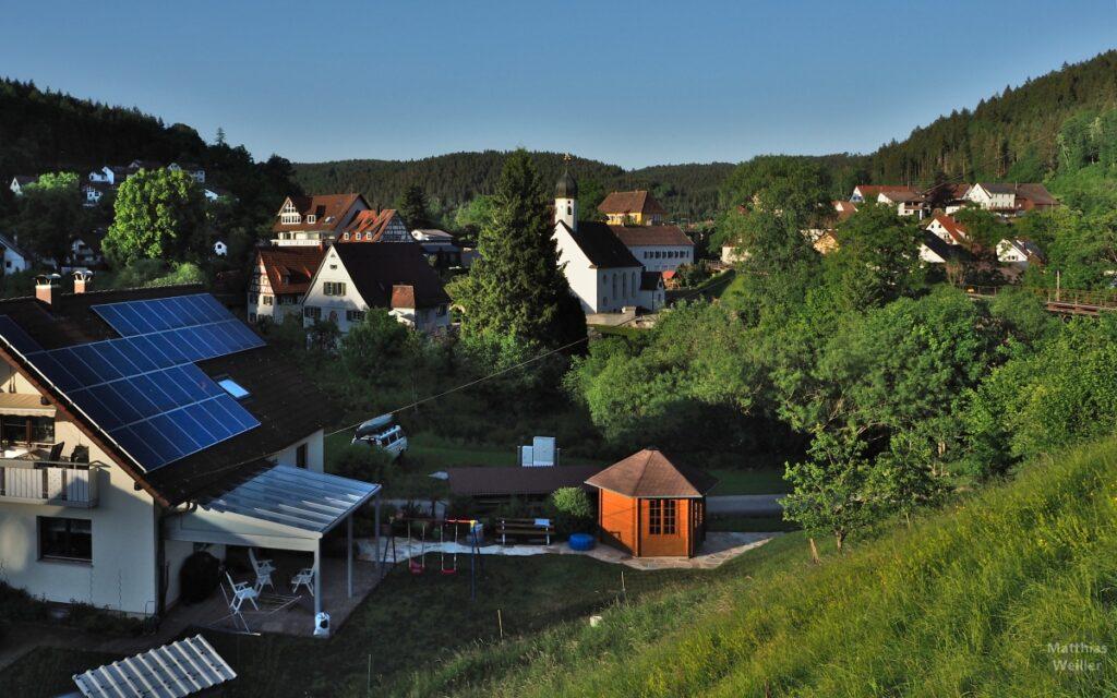 Blick auf Storzingen mit Kirche