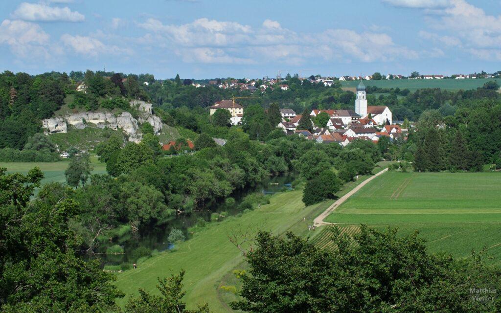 Blick auf Donauaue mit Laiz