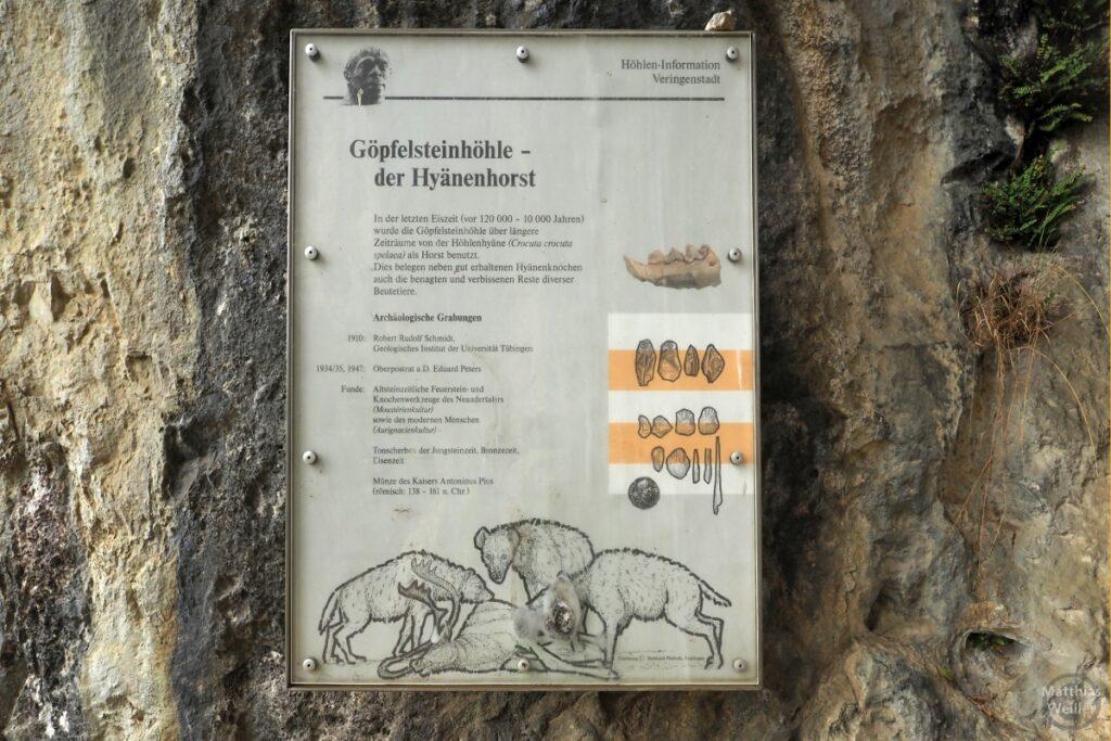 Infotafel Göpfelsteinhöhle